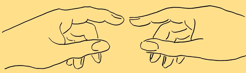 Gesangsunterricht Hände